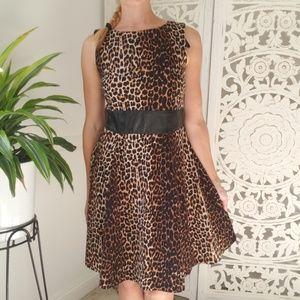 ALYX Leopard Print Dress Faux Leather Dress 6